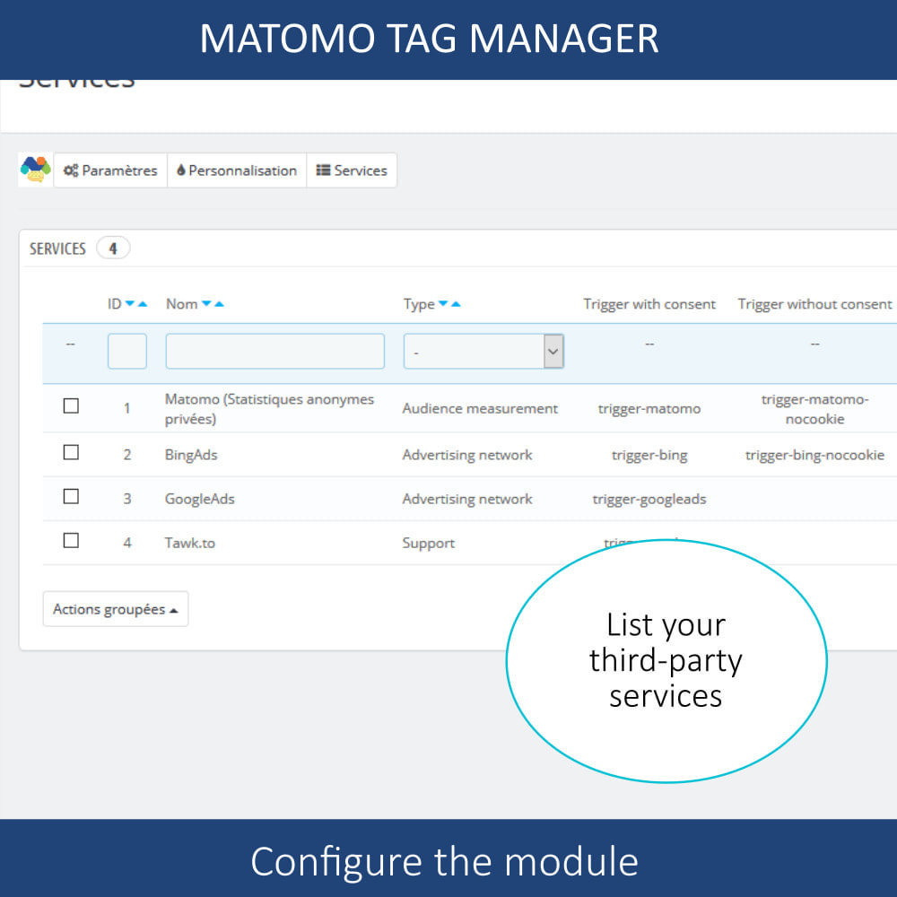 module - Администрация - Matomo tag manager + Cookie manager & banner (GDPR) - 7