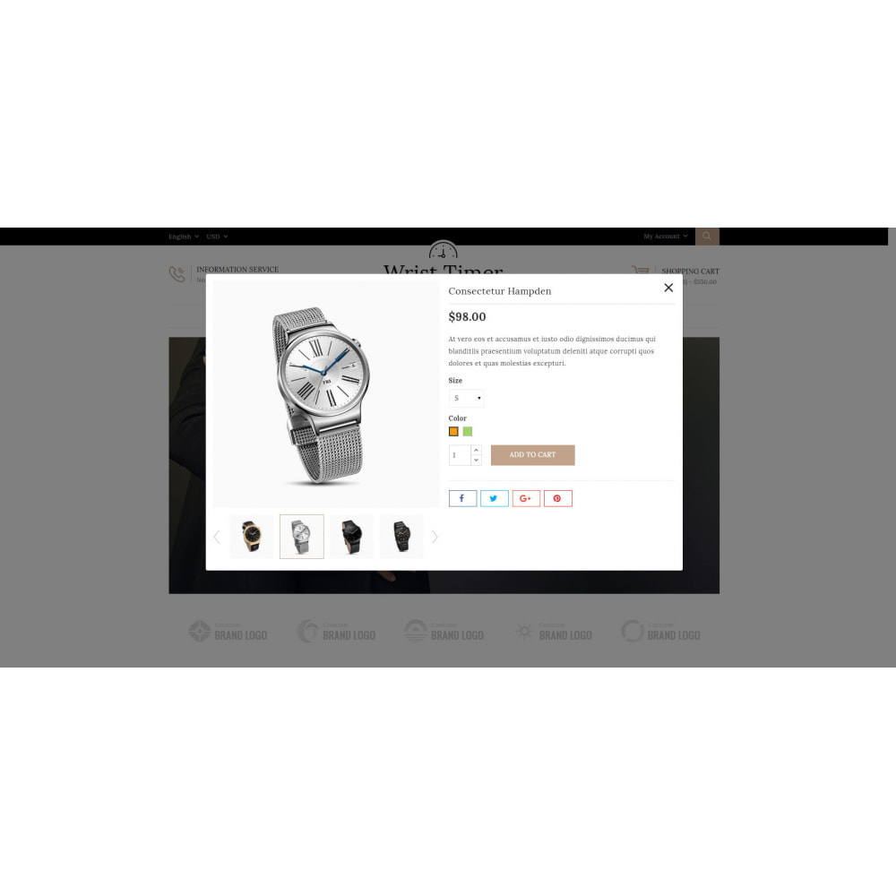 theme - Joalheria & Acessórios - Wrist Timer - Watch Store - 7