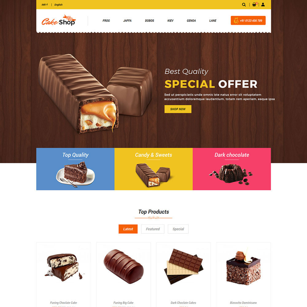theme - Food & Restaurant - Cake  Food  - Bakery Sweet Food Store - 2