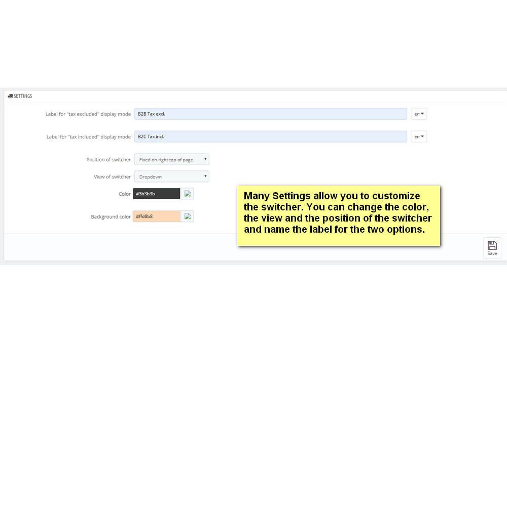 module - B2B - Price Switcher: display of price Tax incl. or Tax excl. - 2