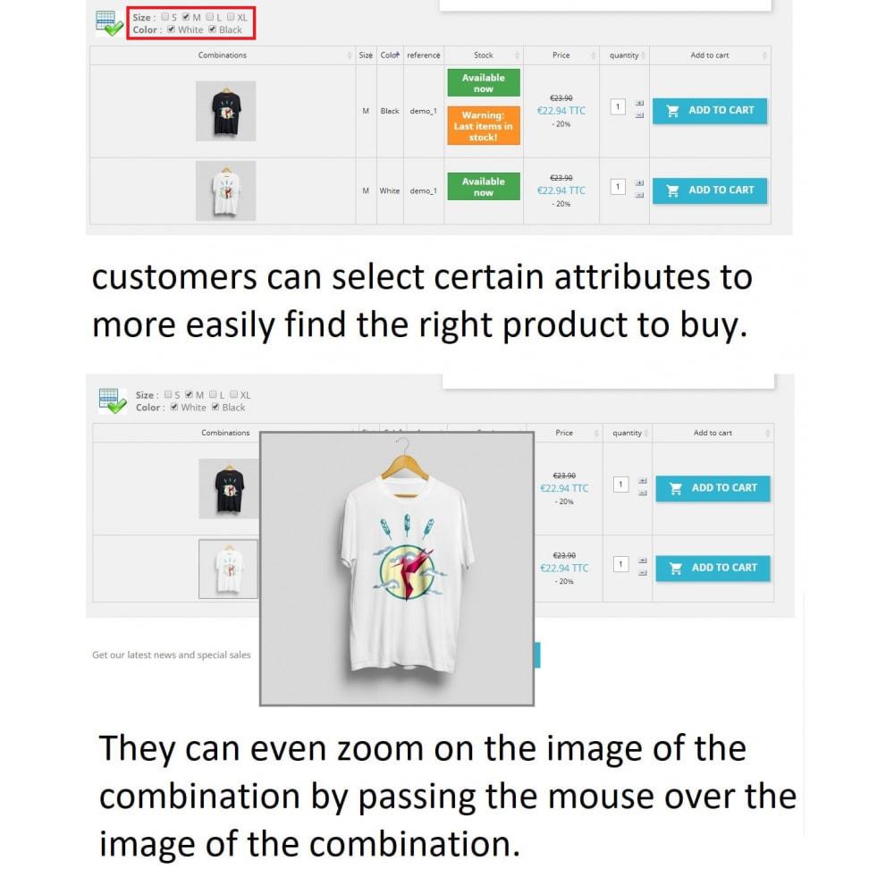 module - Combinaciones y Personalización de productos - List of combinations - 3