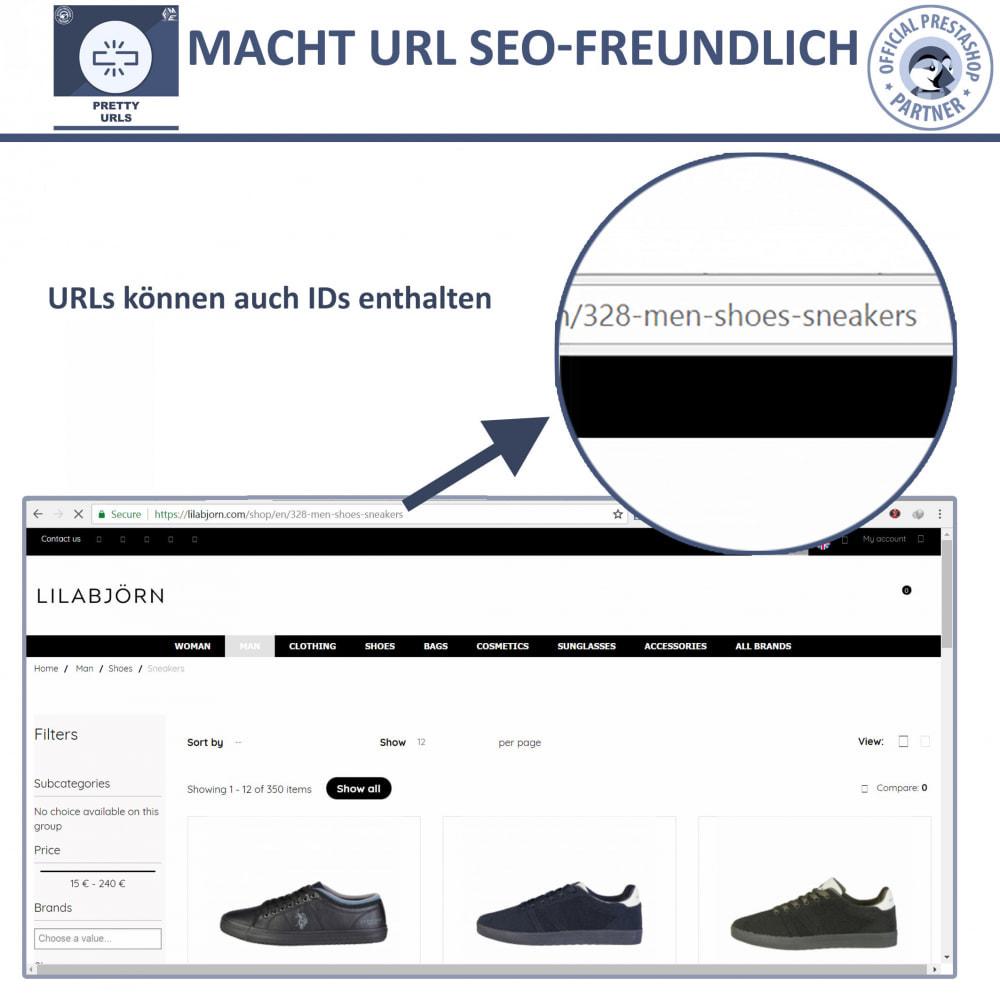 module - URL & Redirects - Pretty URLs – Entfernen Sie ID Nummern von der URL - 4