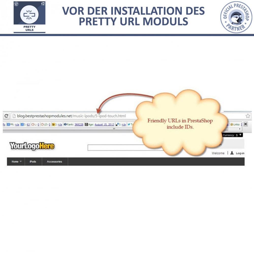 module - URL & Redirects - Pretty URLs – Entfernen Sie ID Nummern von der URL - 11