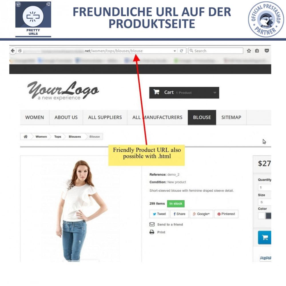 module - URL & Redirects - Pretty URLs – Entfernen Sie ID Nummern von der URL - 13