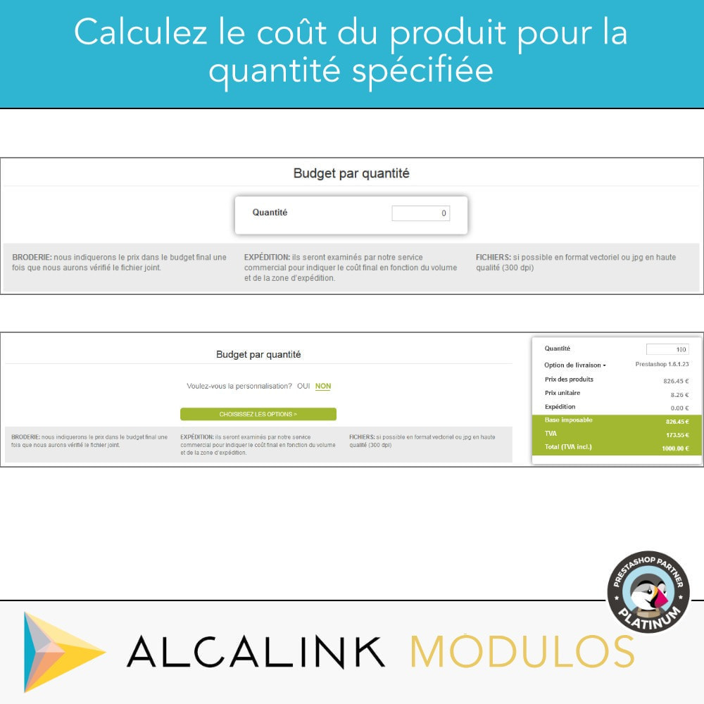 module - Tailles & Dimensions - Budget per volume - Achat rapide - 4
