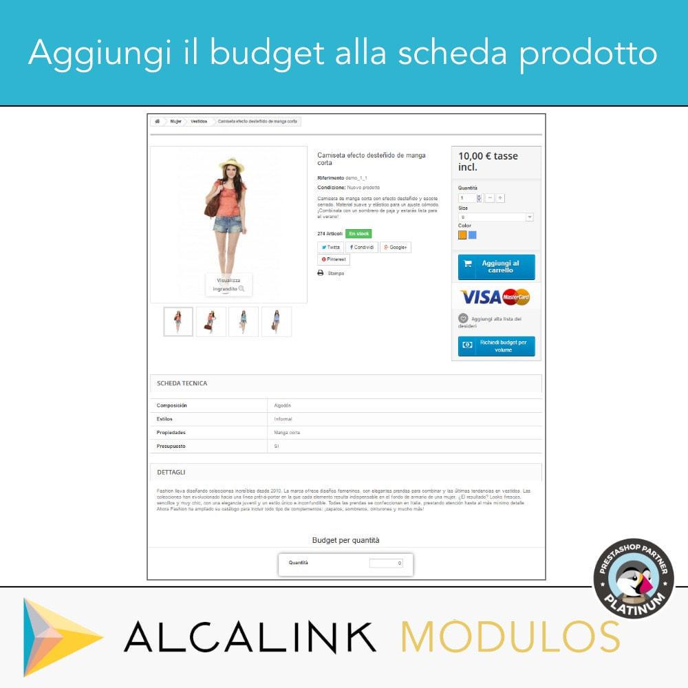 module - Grandezze & Unità di misura - Budget per volume - Acquisto rapido - 3