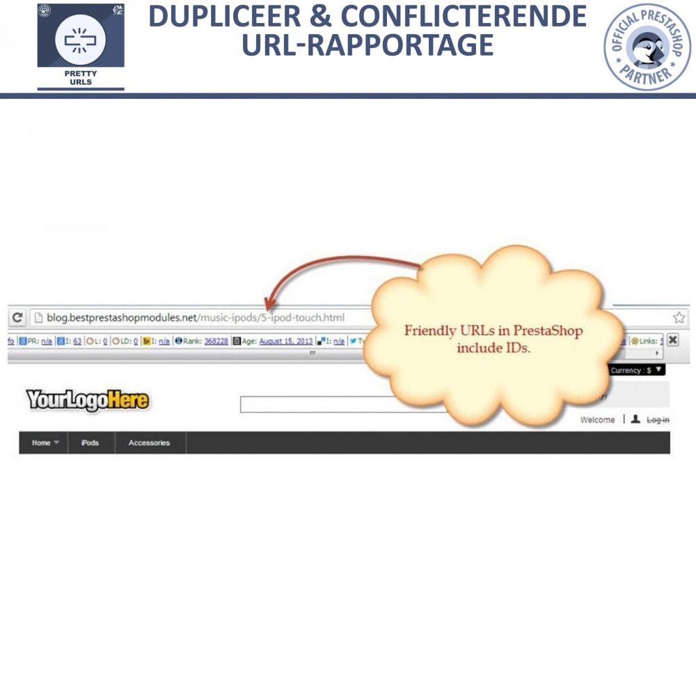 module - URL & Omleidingen - Pretty URL - Verwijder ID's en Nummers uit de URL - 10