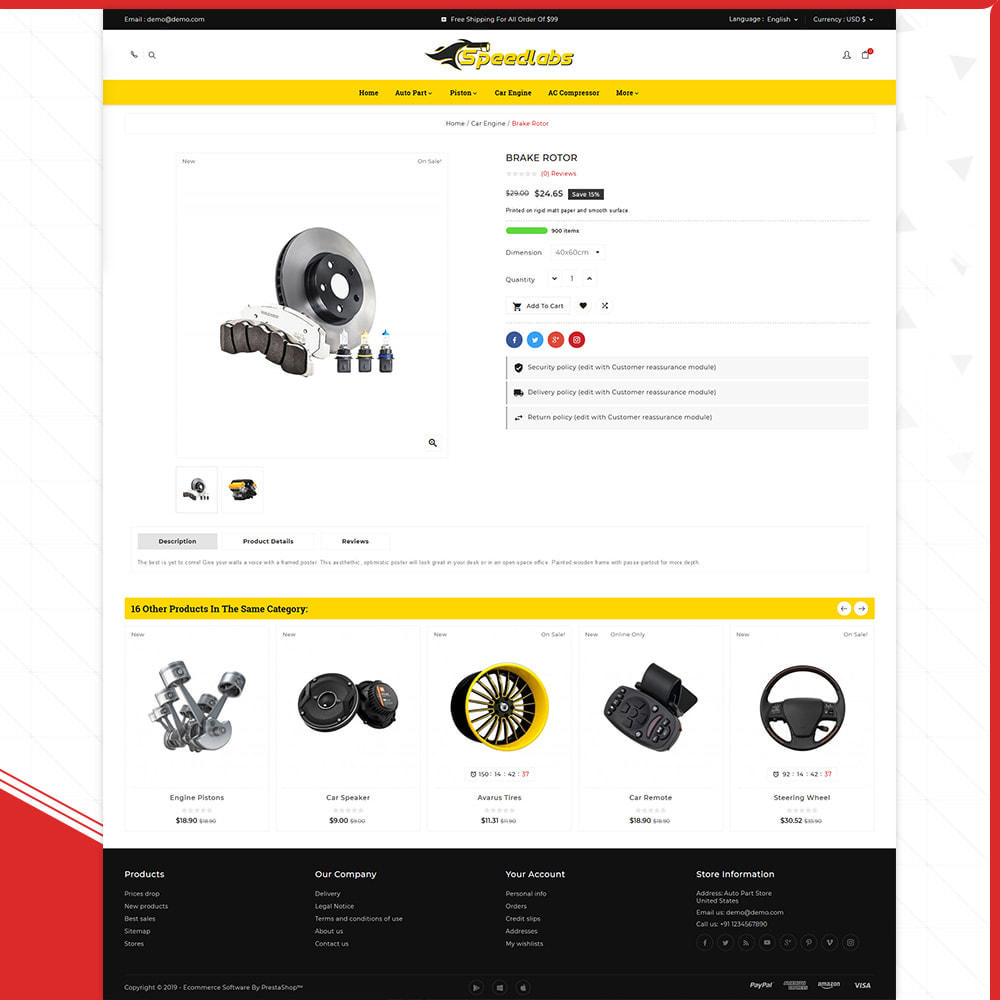 theme - Automotive & Cars - Auto Part – Speedlabs Mega Shop - 4