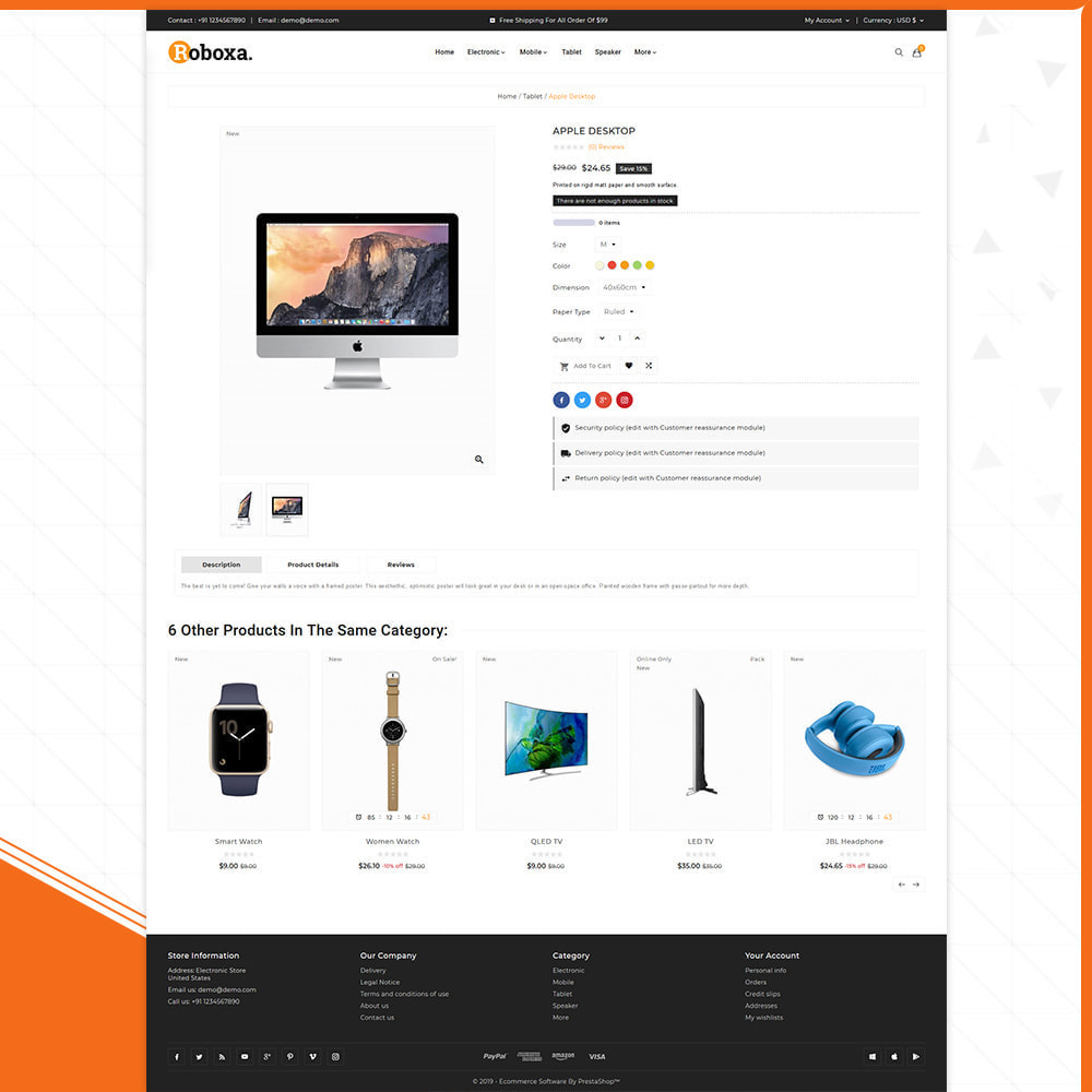 theme - Электроника и компьютеры - Digital Electronics –Roboxa Electro Store - 4