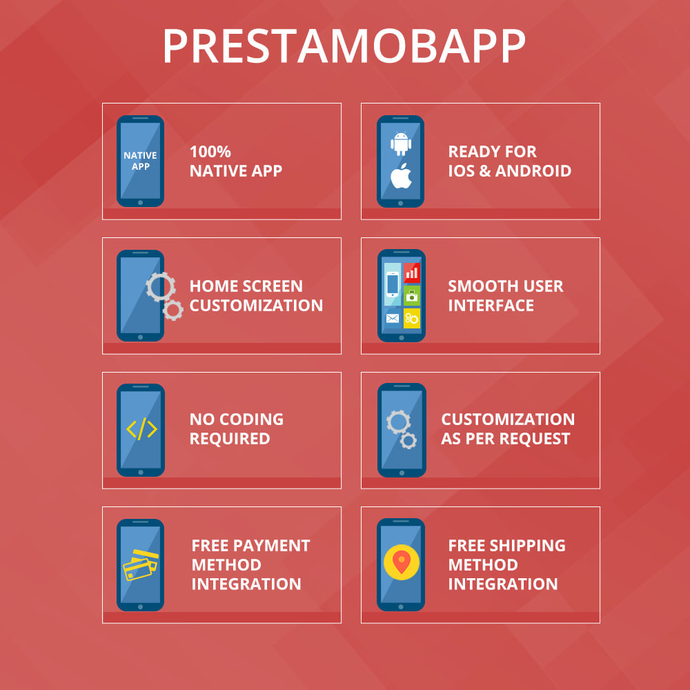 module - Dispositivi mobili - PrestaMobApp - Native App Builder per Android e IOS - 2
