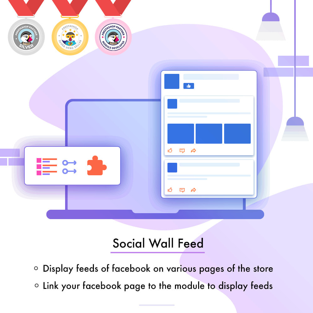 module - Products on Facebook & Social Networks - Social Wall Feed - 1