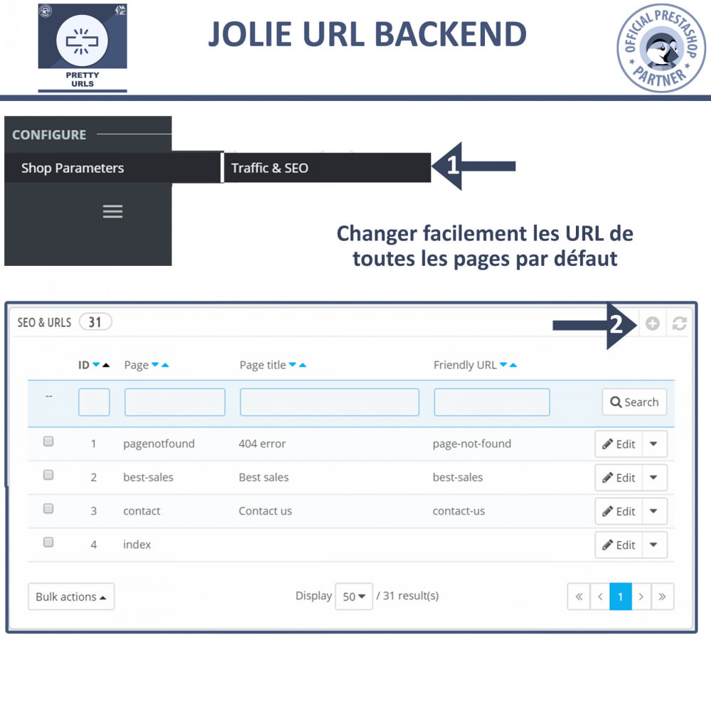 module - URL & Redirections - Pretty URLs  - Supprimez les ID et les numéros de l'URL - 5