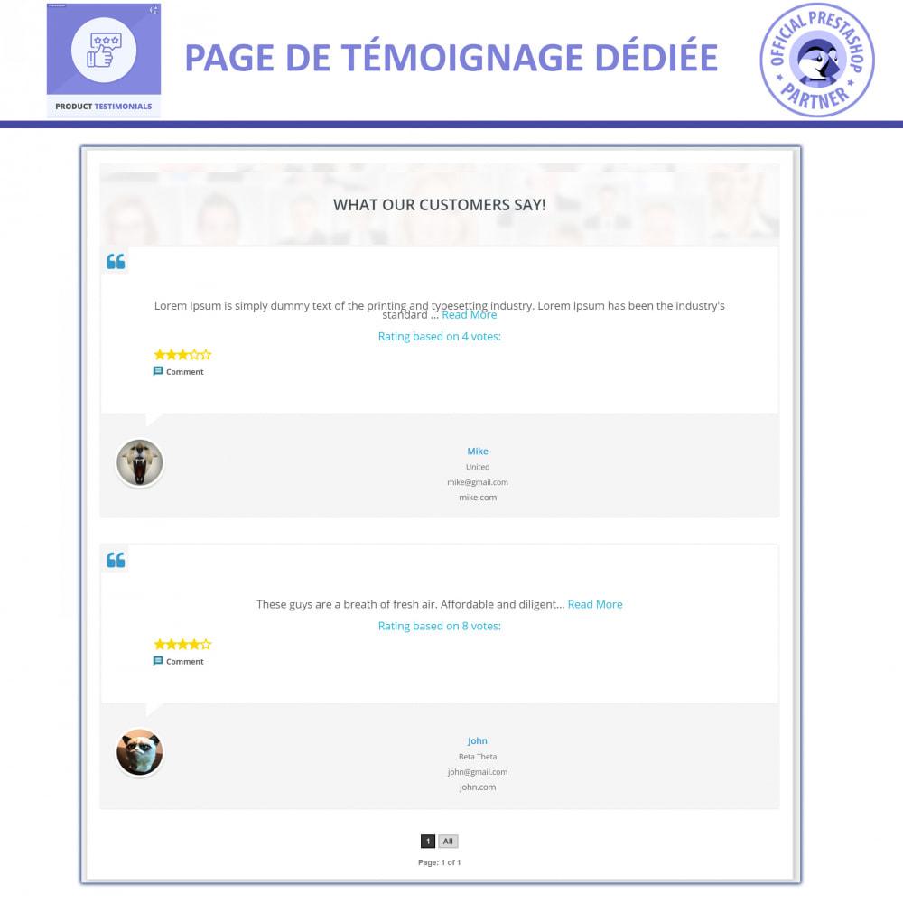 module - Avis clients - Revues de Produits + Témoignages de Magasins - 4