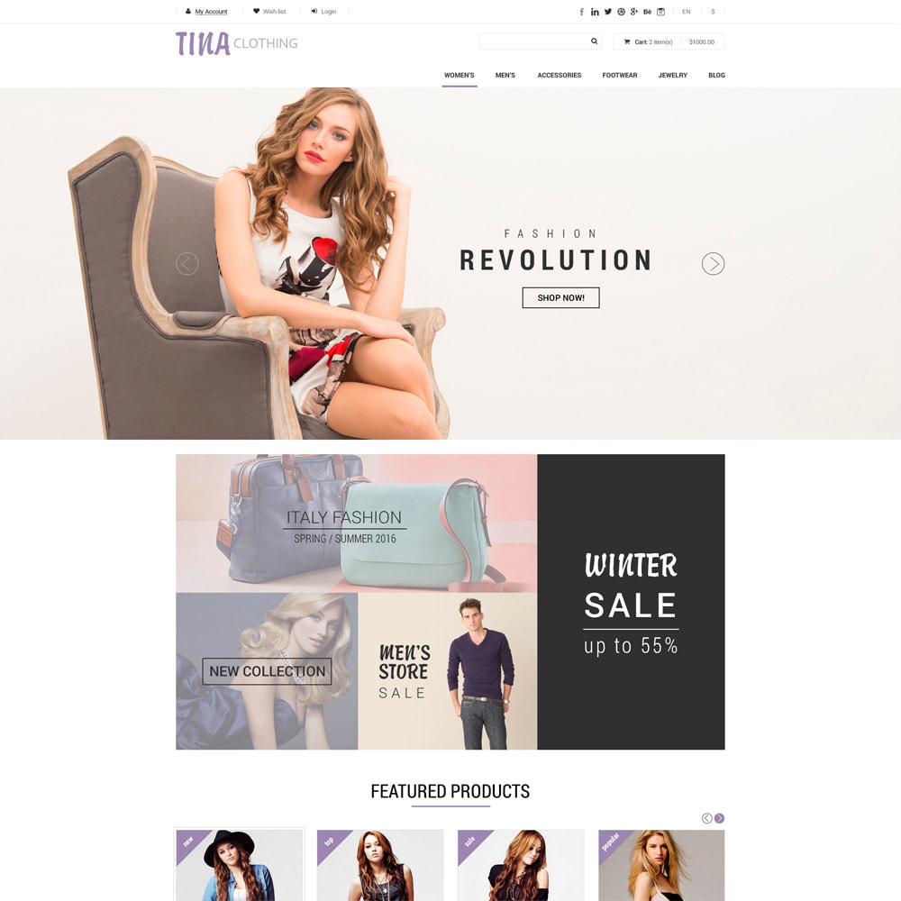 theme - Fashion & Shoes - Ali Clothing Store - 1