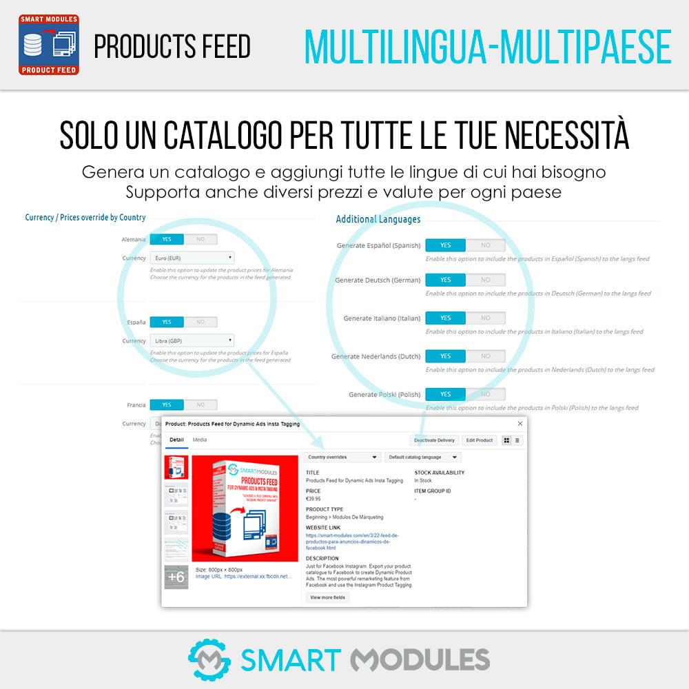 module - Indicizzazione a pagamento (SEA SEM) & Affiliazione - Feed di Prodotti: Pubblicità Dinamica & Tag & Shop - 3