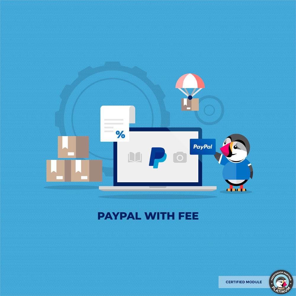 module - Payment by Card or Wallet - PayPal surcharge extra fee - 1