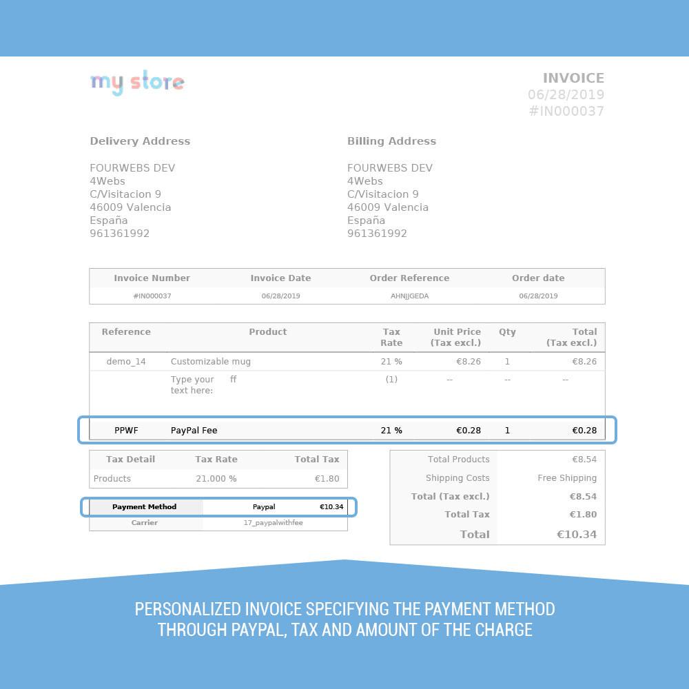 module - Оплата банковской картой или с помощью электронного кошелька - PayPal surcharge extra fee - 6