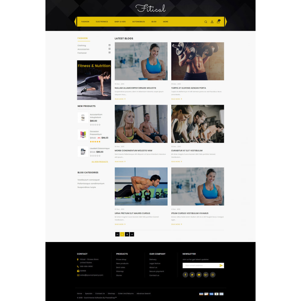 theme - Sports, Activities & Travel - Fitical - Fitness Store - 9
