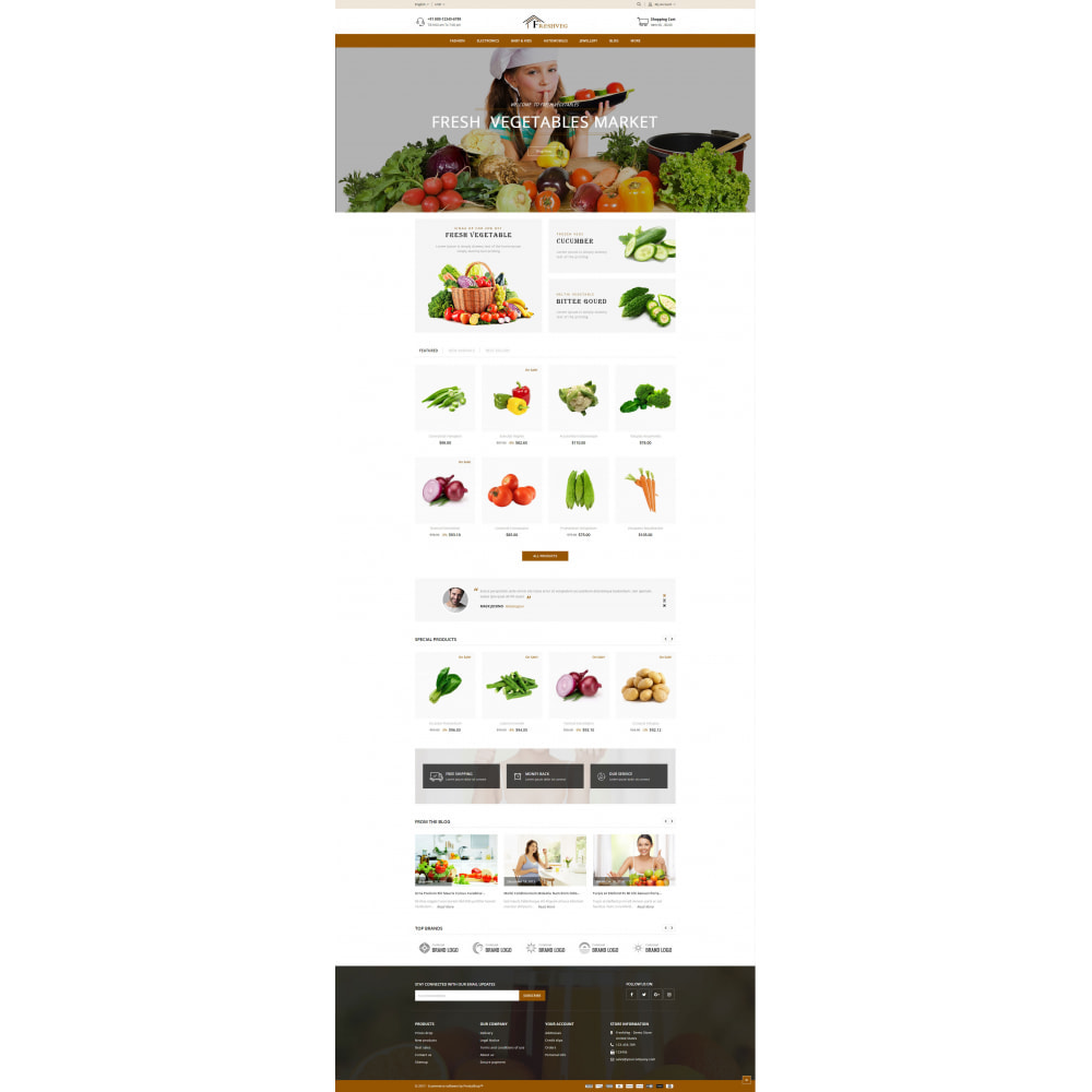 theme - Food & Restaurant - FreshVeg - Grocery Store - 2