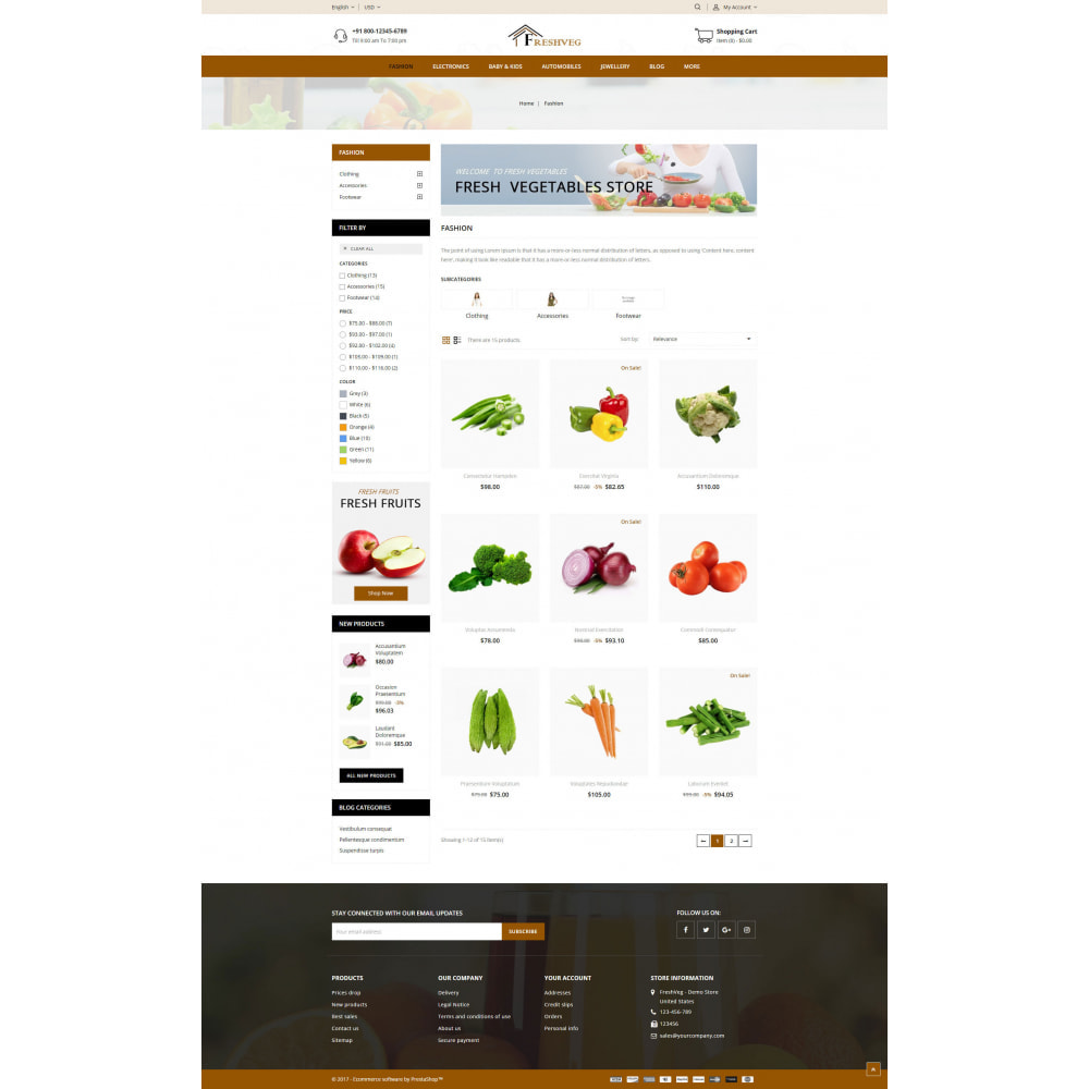 theme - Food & Restaurant - FreshVeg - Grocery Store - 3