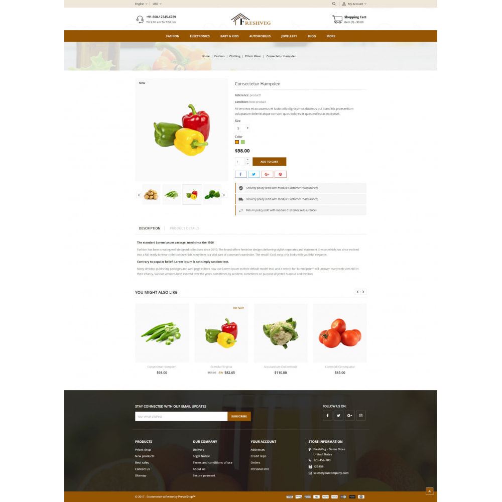 theme - Food & Restaurant - FreshVeg - Grocery Store - 5