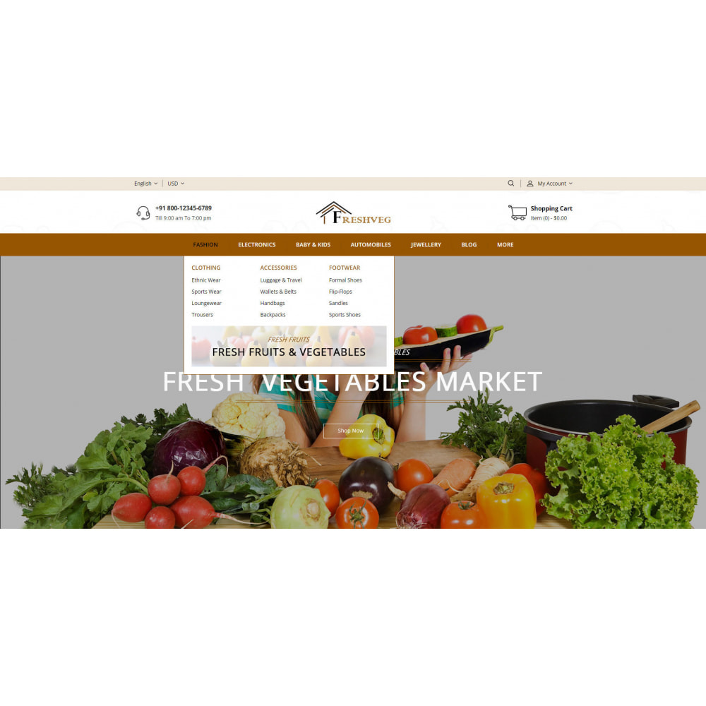 theme - Food & Restaurant - FreshVeg - Grocery Store - 8