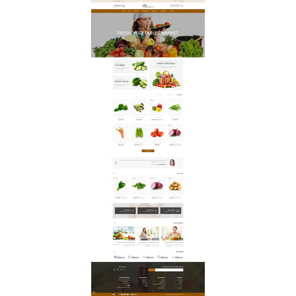 theme - Food & Restaurant - FreshVeg - Grocery Store - 10