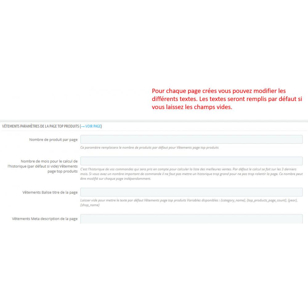 module - SEO (référencement naturel) - SEO pages meilleures ventes - 4