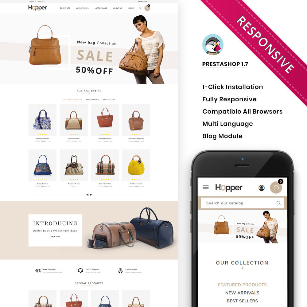 theme - Fashion & Shoes - Hopper Bag Store - 1