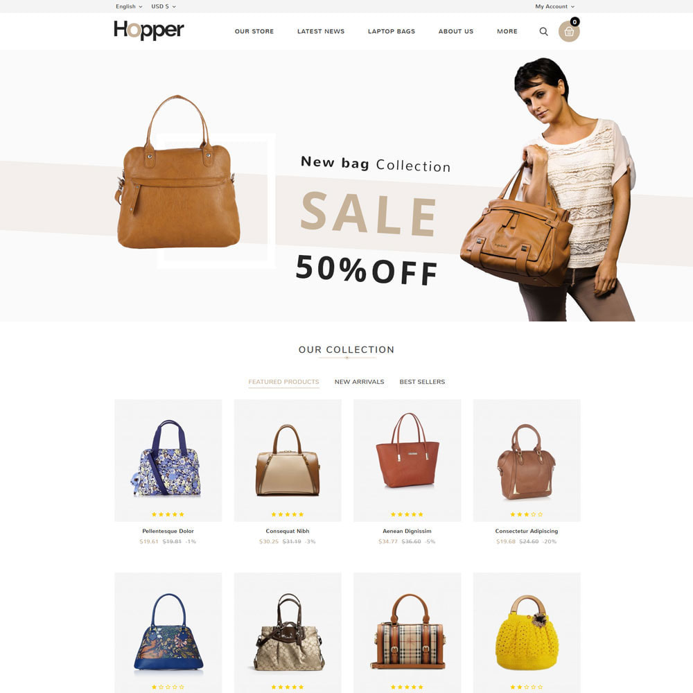 theme - Fashion & Shoes - Hopper Bag Store - 3