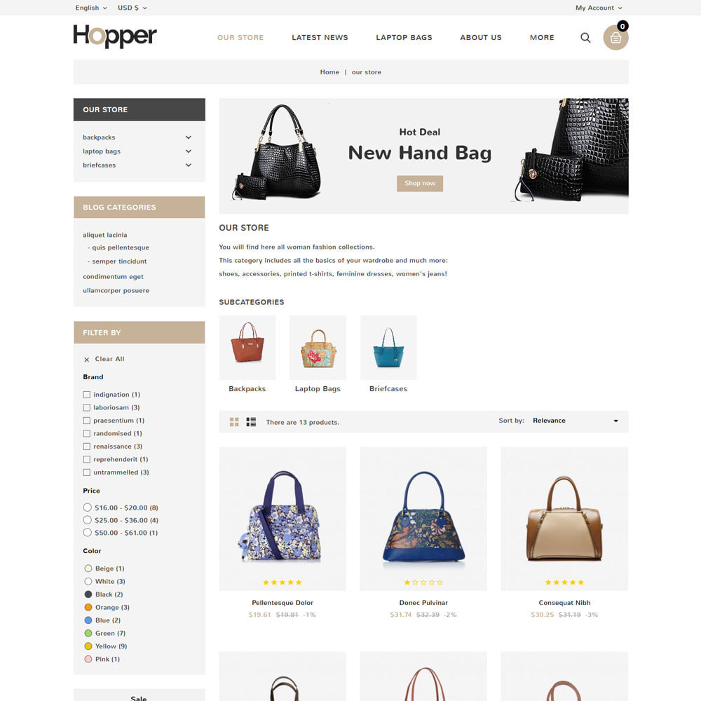theme - Fashion & Shoes - Hopper Bag Store - 4