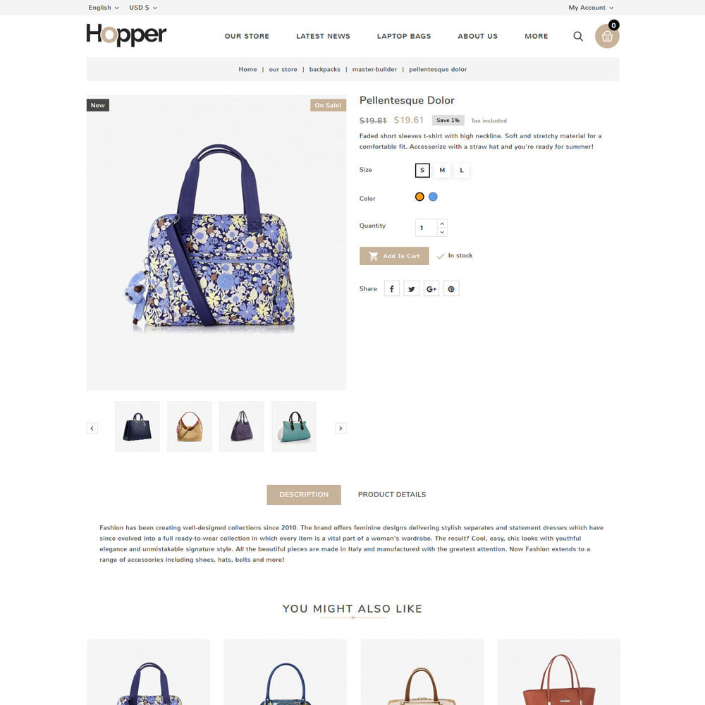 theme - Fashion & Shoes - Hopper Bag Store - 6
