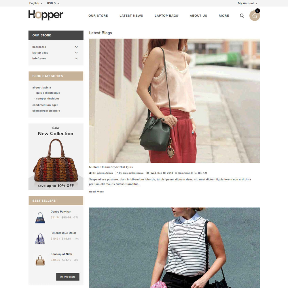 theme - Fashion & Shoes - Hopper Bag Store - 7