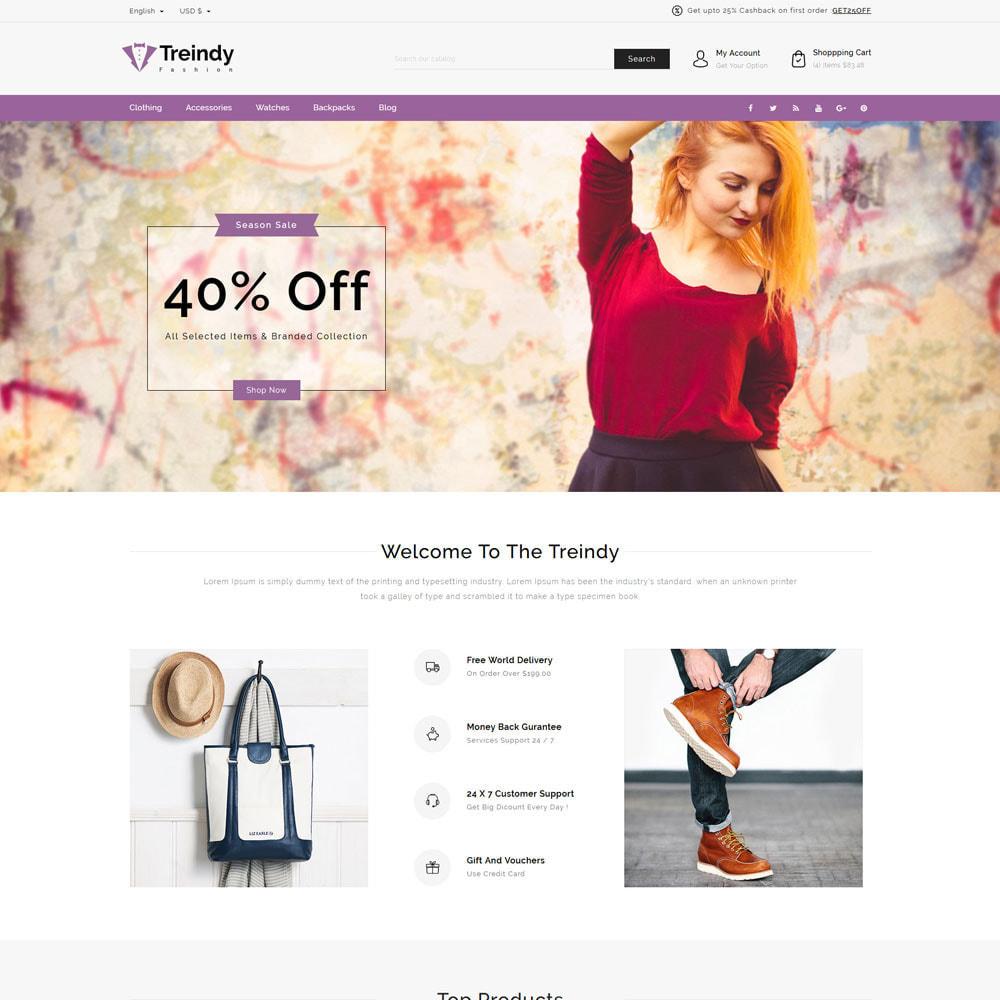 theme - Fashion & Shoes - Treindy Fashion Shop - 2