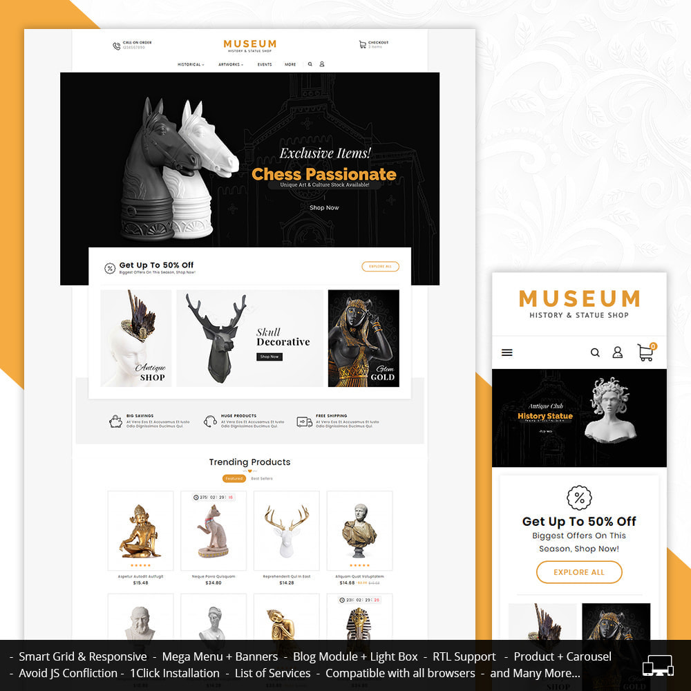 theme - Art & Culture - Museum & Antique Statue - 1