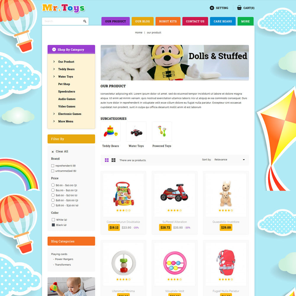 theme - Kids & Toys - Mr Toys - The Toy Shop - 4