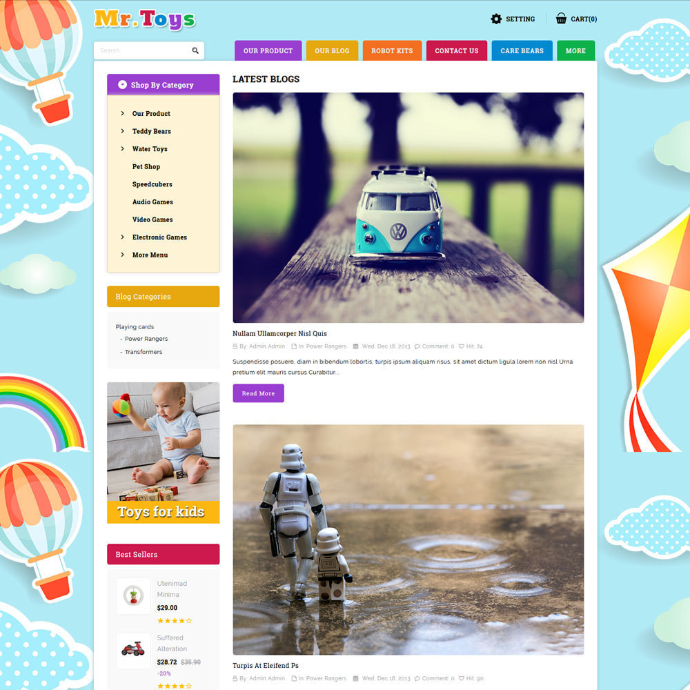 theme - Kids & Toys - Mr Toys - The Toy Shop - 7