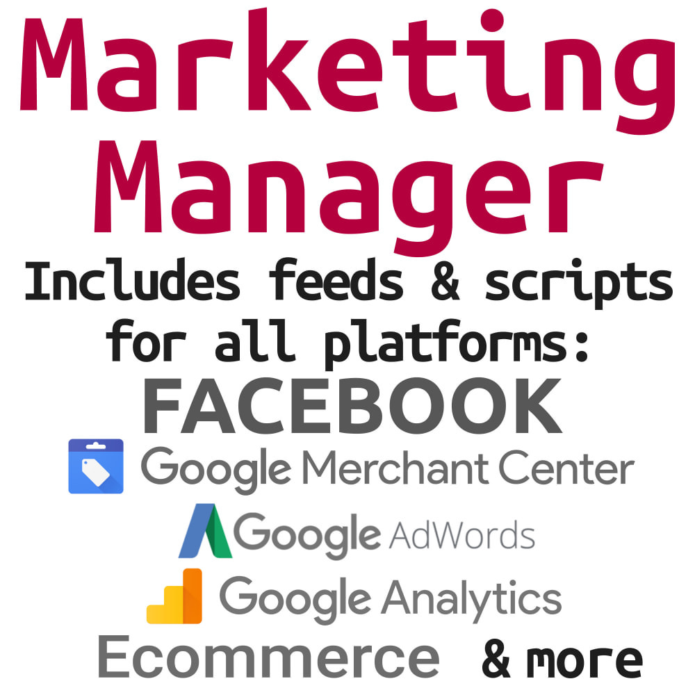 module - Promotions & Marketing - Marketing Manager (Feeds & Scripts for all platforms) - 1