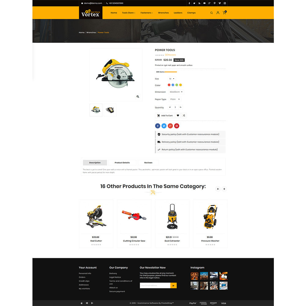 theme - Automotive & Cars - Tool Vortex - Toolen Store - 4