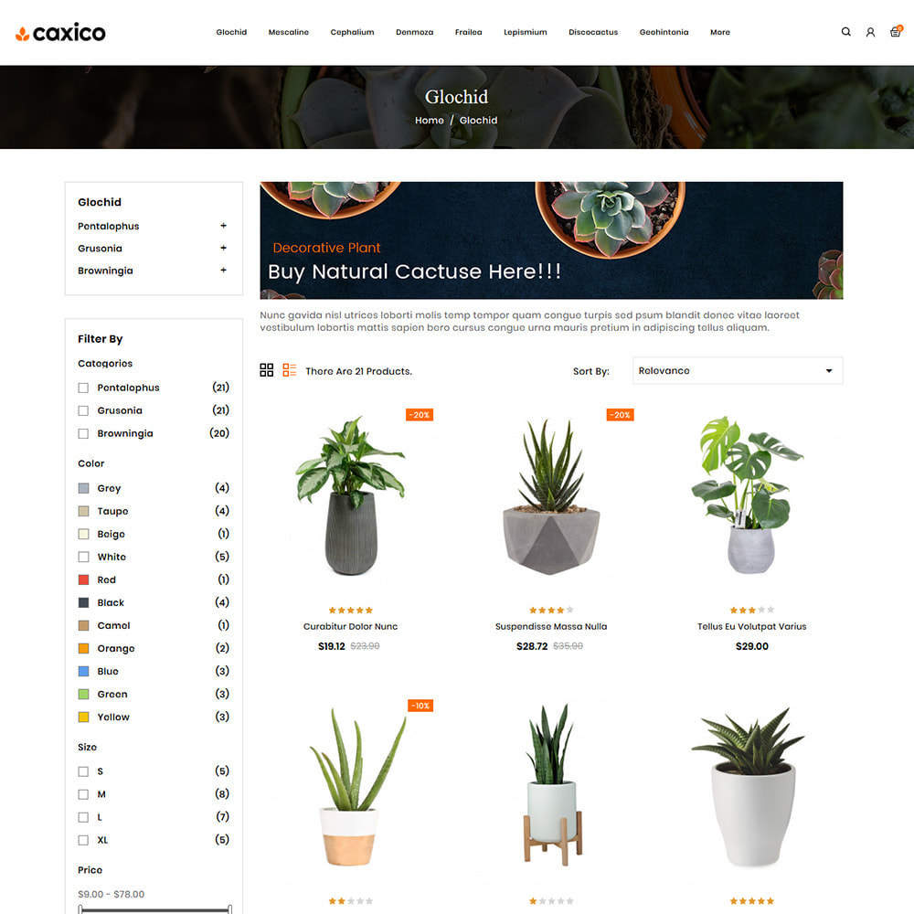 theme - Home & Garden - Caxico - Plant Store - 3
