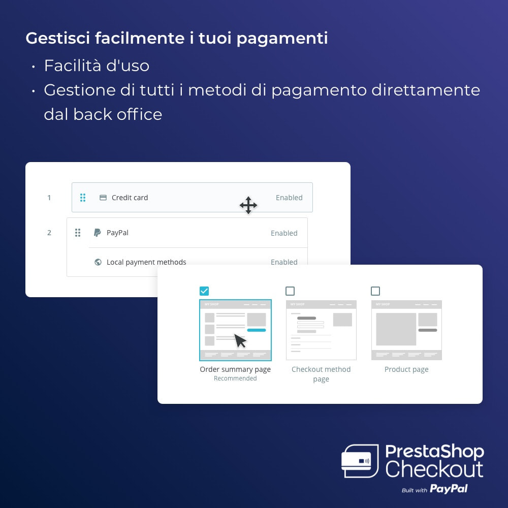 module - Pagamento con Carta di Credito o Wallet - PrestaShop Checkout built with PayPal - 2