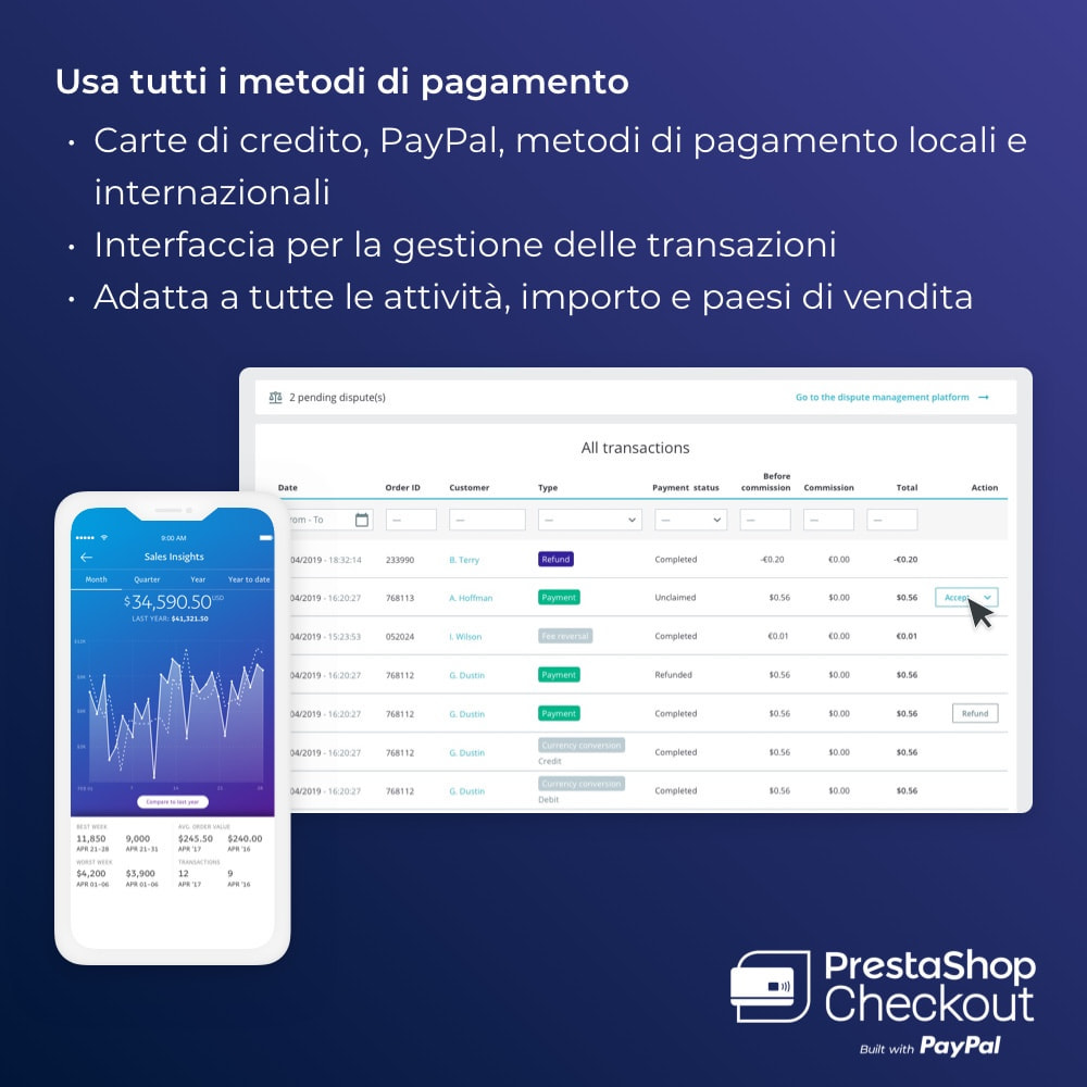 module - Pagamento con Carta di Credito o Wallet - PrestaShop Checkout built with PayPal - 4