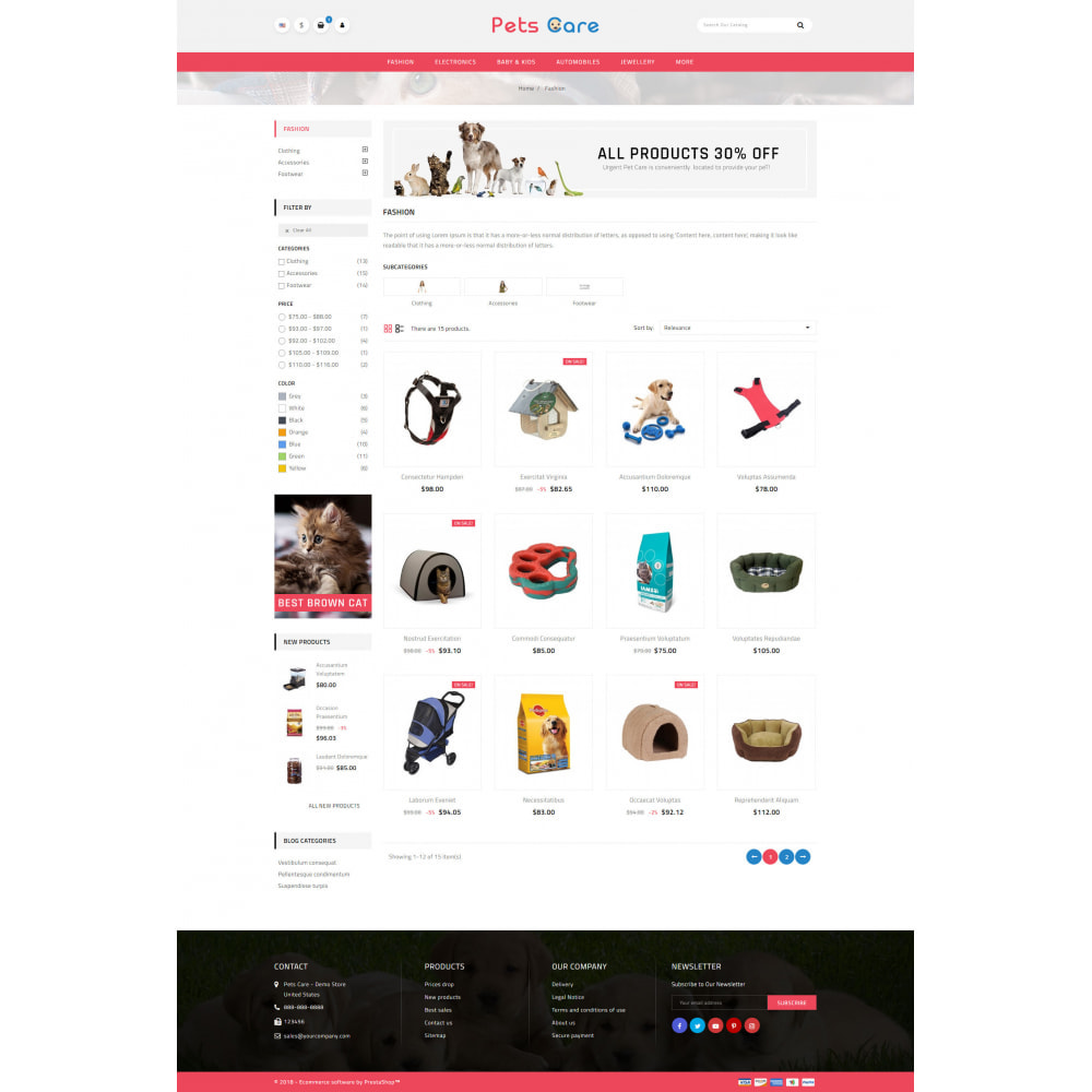 theme - Animales y Mascotas - Pets Care - Animals Store - 3