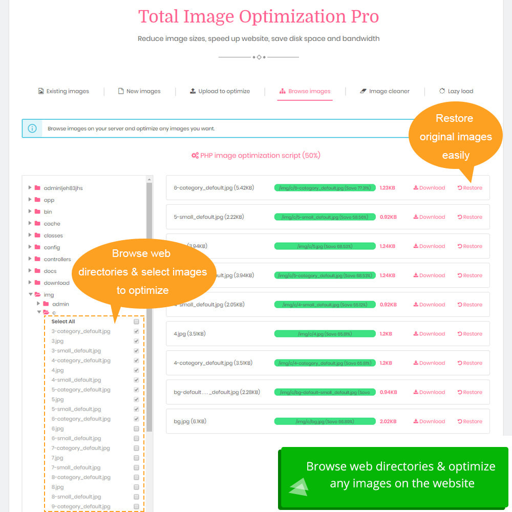 module - Website Performance - Total Image Optimization Pro - Lossless compression - 8