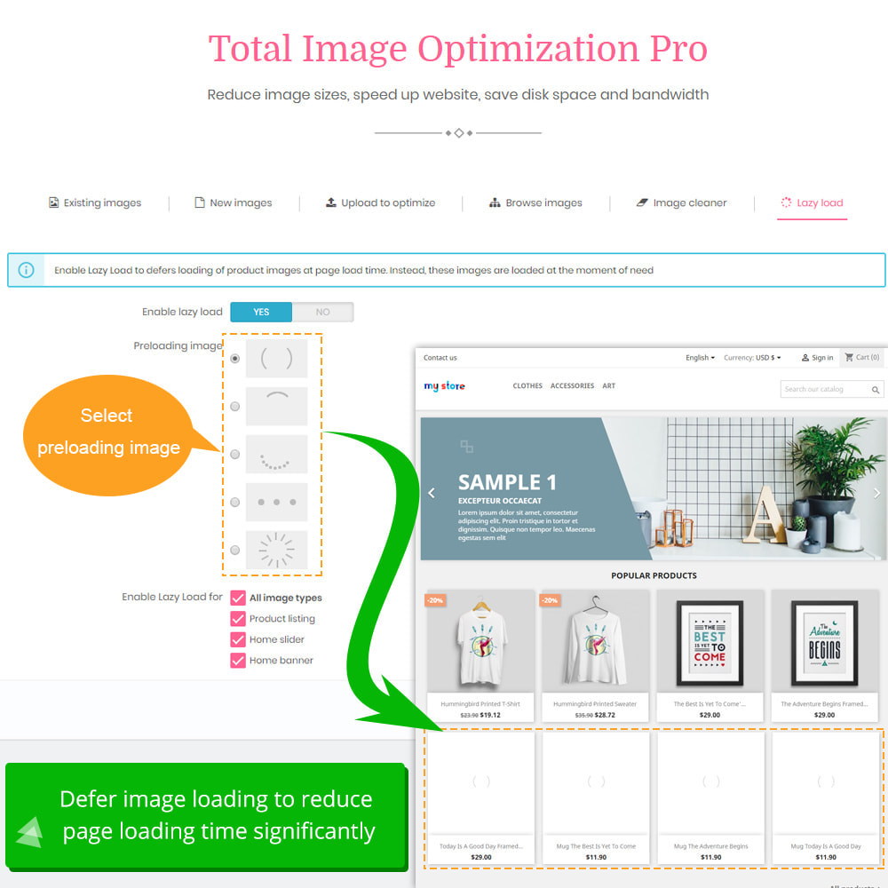 module - Website Performance - Total Image Optimization Pro - Lossless compression - 10