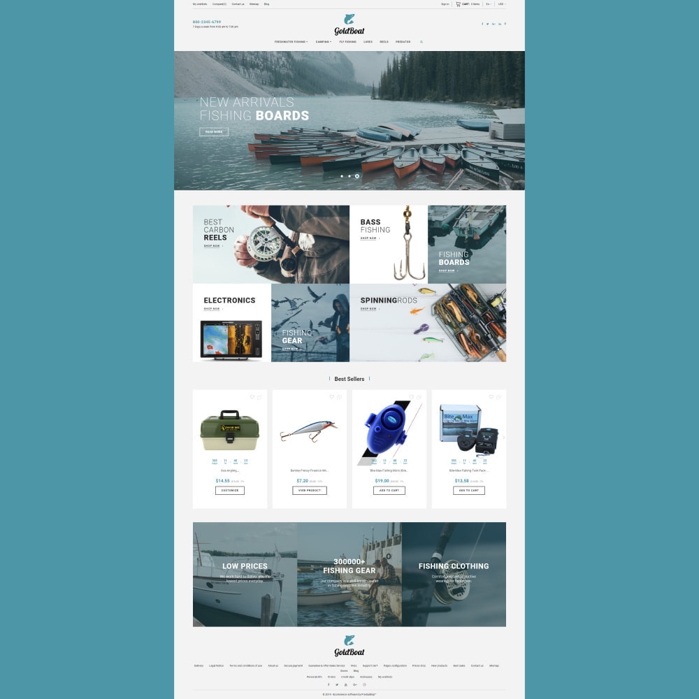 theme - Sports, Activities & Travel - GoldBoat - Fishing Shop - 3