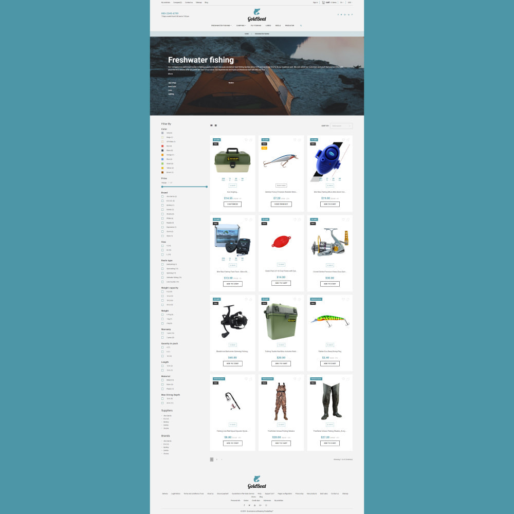 theme - Sports, Activities & Travel - GoldBoat - Fishing Shop - 5