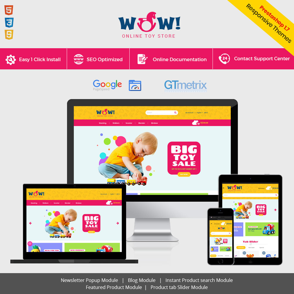 theme - Kids & Toys - Wow Kids - Toys Baby Games Station Store - 1
