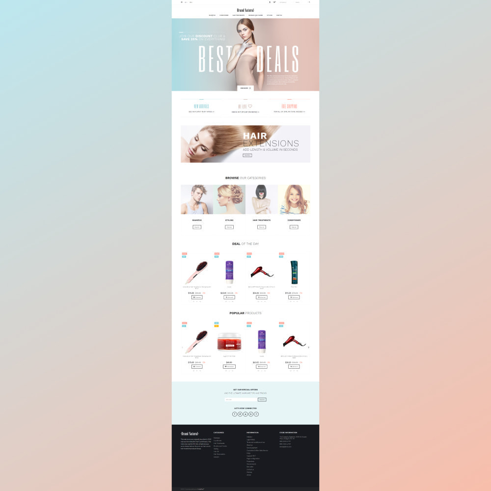 theme - Salud y Belleza - BrandNatural - Beauty Hair Salon - 3