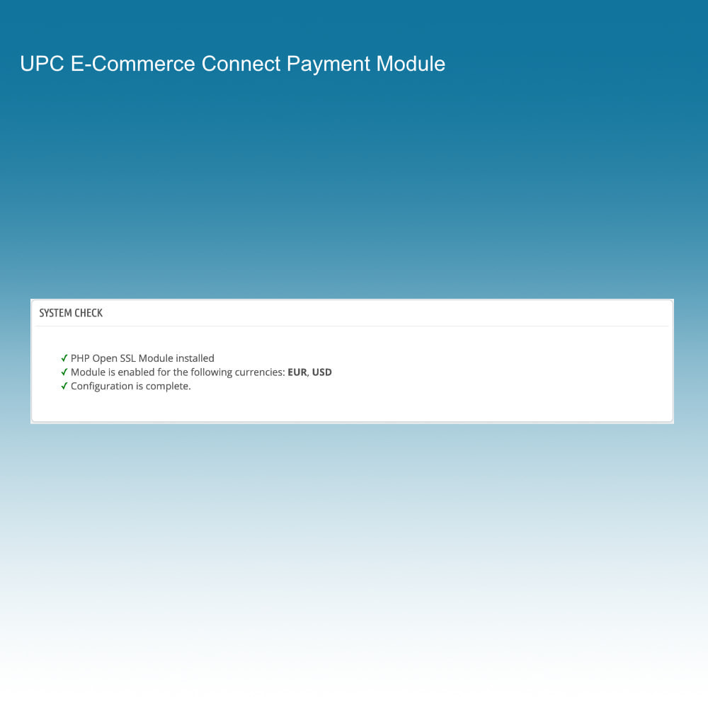 module - Payment by Card or Wallet - UPC eCommerce Connect Payment - 2